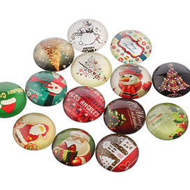 Christmas Photo Glass Cabochons