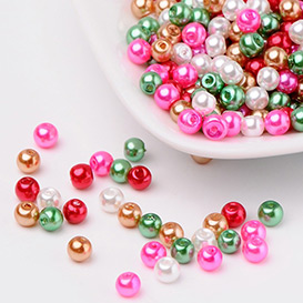 Christmas Mixed Glass Pearls