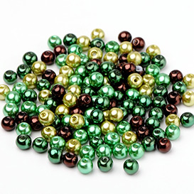Green Style Glass Pearl Beads