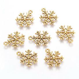 Golden Snowflake Pendants