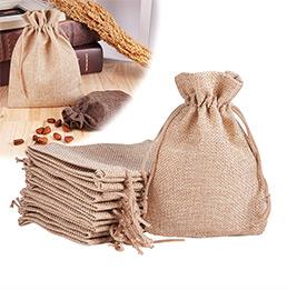 Tan Burlap Gift Bags