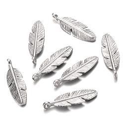 Tibetan Silver Feather Pendants