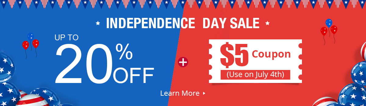 Independence Day Sale Up To 20% OFF