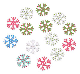 Snowflake Wooden Sewing Buttons