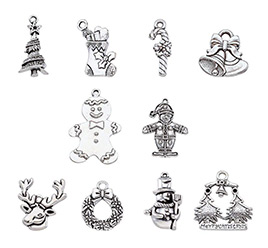 Christmas Theme Alloy Pendant Sets