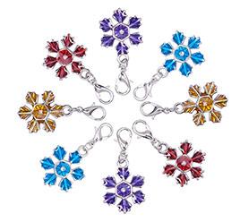 Christmas Snowflake Enamel Pendants