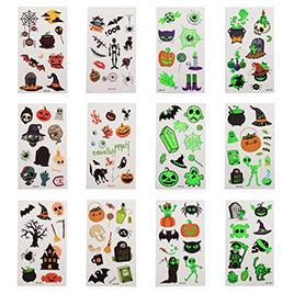 Halloween Theme Luminous Tattoo Stickers