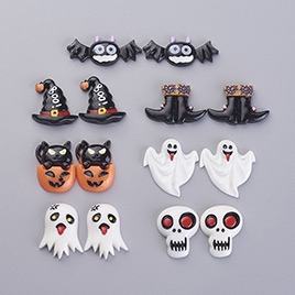 Halloween Theme Resin Cabochons, Mixed Shapes