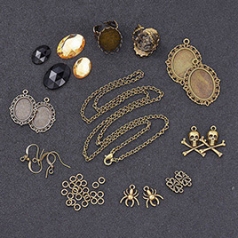 DIY Halloween Jewelry Set Making