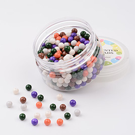 Environmental Baking Painted Glass Pearl Beads