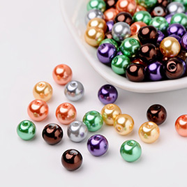 Mixed color Halloween Glass Pearl Beads