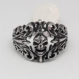 Retro Men's Halloween Jewelry Skull Rings