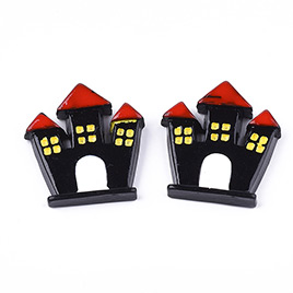Halloween Castle Resin Cabochons