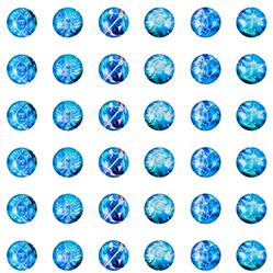 Round Constellation Cabochons