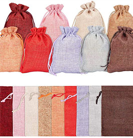 Burlap Packing Pouches