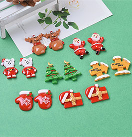 Christmas Theme Resin Cabochons